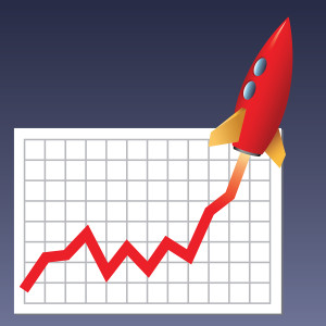 Business Chart Skyrocketing